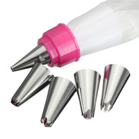 baking equipment supplies - New Double Colors Piping Bags Icing Pastry Bags Cake decorating kits Cupcake Baking Tools Supplies Equipment Accessories