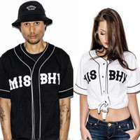baseball t shirt printing - New MISBHV KNYEW Baseball T shirt Jersey Trend Fashion Hip Hop Men Women Couples Sports Cotton T shirts S04