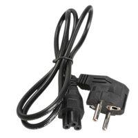 Laptop ac adapter lightweight - 1M EU Prong Pin AC Laptop Power Cord Adapter Cables Black Lightweight and high quality design