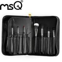aluminium makeup case - Full Function MSQ Best Quality Natural Goat Hair Aluminium Tube Makeup Brush Kits With Strong Case