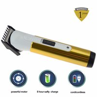 Wholesale New Electric Hair Clipper Rechargeable Hair Trimmer Haircut Machine For Men Children Titanium Blade Color Gold