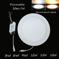 Wholesale 20pcs Dimmable Ultra thin led down light w w w w w w led ceiling led lamp led downlight round panel light