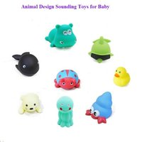 Wholesale HOT high quality Animal design sounding toys for baby bath toys Dolphin duck beetles whale baby toys