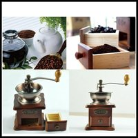 Wholesale Classical Retro hand manual coffee grinder coffee mill machine mini espresso cocoa bean powder grinder