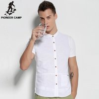 Wholesale Pioneer Camp new fashion mens solid shirt white casual business men shirts imported clothing shirt men cotton