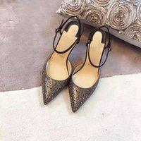 adhesive mats - Dress shoes sandals import luxury sheepskin with crystal diamond on vamp inside and mat italian genuine leather tread heel high cm