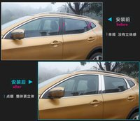 Wholesale High quality stainless steel window center pillar decoration trim decoration scuff plate for Nissan Qashqai