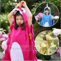 baby unicorns - Baby Bath Towels Unicorn Rhino Robes Kids Bathrobe Cartoon Poncho Blankets Cotton Hooded Cloak Pajamas Sleepwear Bath Gown Nightgown B1010