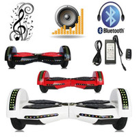 Wholesale 8 inch Self Balancing Scooter kick scooter with Bluetooth speaker LED light Bluetooth Hoverboard electric skateboard