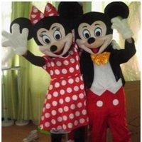 Tamaño encantador del adulto de la historieta del traje de la mascota de Mickey y de Minnie Mouse