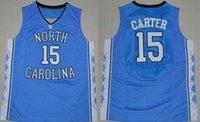 north carolina - 2016 College Vince Carter Jersey North Carolina Tar Heels Michael Harrison Barnes Marcus Paige Brice Johnson Blue White