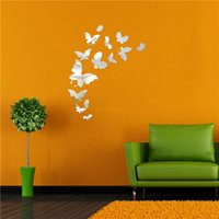 Wholesale Creative fashion butterfly mirror wall stickers factory outlets