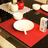 Wholesale 4 Placemat pvc dining table mat disc pads bowl pad coasters waterproof table cloth pad slip resistant pad color
