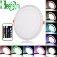 architectural white - UltrathinLED Panel Light Embeded Round W W W W AC110 V Colorful Light for Home Hotel Bathroom Architectural Lighting