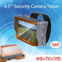 Wholesale 4 inch TFT LCD Three in One Network Cable Test Function P TVI CVBS AHD Security CCTV CAMERA Tester