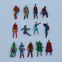 Wholesale 2016 New Arrive Mixed Style cm Mini Marvel Superhero Spiderman Batman Random Delivery F