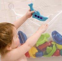 Wholesale LLA192 Baby Kids Bath Tub Toy Tidy Bag Mesh Storage Suction Bathroom Stuff Hanging Organiser
