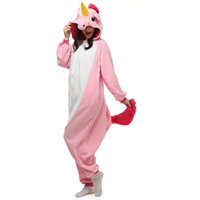 Wholesale AC012 In Stock Pink Unicorn Cartoon Cosplay Party Costumes Comfy Leisure Animal Onesies Pajamas Jumpsuit Teens Adults Homewear Cheap Sale