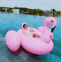 Wholesale 2016 new Summer Hot Giant Swan m Inflatable Ride On Pool Toy Float Swan Inflatable Swim Ring mattress Free shiping