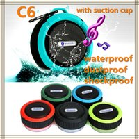 audio card pc - C6 IPX7 Outdoor Sports Shower Portable Waterproof Wireless Bluetooth Speaker Suction Cup Handsfree MIC Voice Box For Cellphone PC