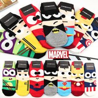 baby blue socks - Cartoon Ankle Socks Avengers Super Hero Batman Superman SpiderMan Sock Men Women Short Socks for Sport Kids Children Baby Cotton Socks
