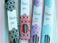 Wholesale Fedex DHL Newest Stainless Steel Chopsticks Tableware Wedding Favors Gift With Retail package Pairs