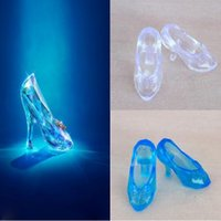 Wholesale Crystal Shoes For CINDERELLA fashion doll shoes high heels sandals
