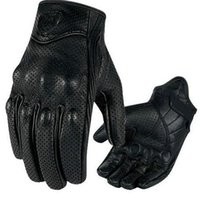 Wholesale Moto Racing Gloves Leather motorcycle gloves cycling gloves Perforated Leather Motorcycle Gloves black color