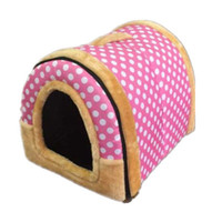 Wholesale Lovely Soft Sponge Circular Shaped Pet Dog Puppy House Cat House Cat Bed Kennel Bed Pieces Set