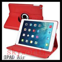 achat en gros de pu case-Pour iPad Pro air 9,7 AIR3 2 3 4 5 6 7 Mini 4 Magnetic 360 Rotation étui en cuir Smart cover stand