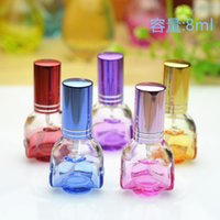 Wholesale 8ml rose spray perfume bottles glass empty small perfume refillable atomizer bottle container