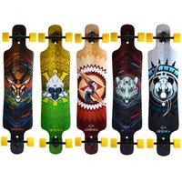 Wholesale 2016 LOSENKA Skateboard Maple wood Flat Plate Length quot Professional Longboard Speed Skateboard