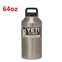 aluminum sports bottle - 64oz Yeti Outdoor Sport Coolers Stainless Steel Vacuum Flask Bottle Car Cup Travel Mug