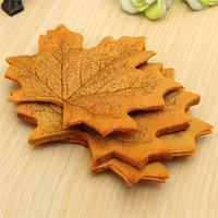 artificial autumn leaves - New Arrival Romantic plastic Artificial Maple Autumn Leaves Wedding Decoration decor home decorations