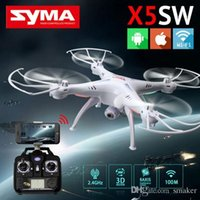 Wholesale SYMA X5SW WIFI RC Drone FPV Helicopter Quadcopter with HD Camera G Axis Real Time RC Helicopter Toy