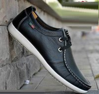 best driving shoe - new Best quality Genuine Leather men flat shoes casual shoes Soft men Loafers Comfortable Driving Shoes