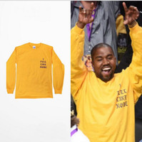 appliques felt - 2016 Kanye West I Feel Like Kobe long sleeve commemorate T shirt hight quality new fashion