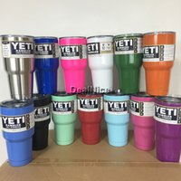 Wholesale 13 colors oz Yeti Cooler Stainless Steel YETI Rambler Tumbler Colored Cup Double Wall Bilayer Vacuum Insulated Mug