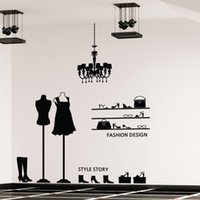 art n light - ome Decor Wall Sticker Vintage Pendant Light Maral Art Wall Sticker Glasses Shoes Clothes Shop Decal Decoration Removeable Sticker N