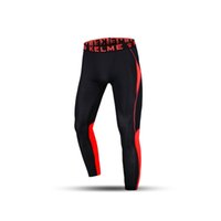 Wholesale Kelme K15Z709 Men Quick drying Breathable Elastic Bands Thin Training Legs Running Sport Gym Skinny Pants Black Orange