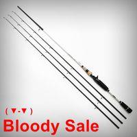 bass poles - 2 m Carbon Casting Rod Tips Bass Pesca Fish Pole ML M MH Free Choice EVA Handle Fishing Rod Fishing Tackle