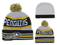 best quality hats - Pittsburgh Penguins Hockey Beanies Team Hat Winter Caps Popular Beanie Caps Skull Caps Best Quality Sports Caps Allow Mix Order