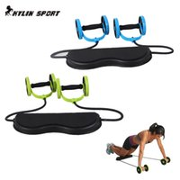 Wholesale Sports abdominal fitness equipment Core Double Power AB roller trainer wheels fitness Abdominal body building and exercises home