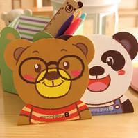 animal agenda - cute agenda kawaii cartoon creative stationery office supplies school Animal notebook diary panda notepad Bear Cat FBZ