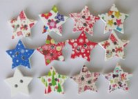 Cheap 200pcs lot Mixed Star Shaped 2 Hole Wooden Sewing Buttons random delivery decorative buttons for crafts DIY tool Scrapbooking M67242