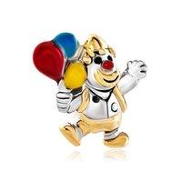 balloon designers - European Bead Gold Clown Jumpping Colorful Balloon Bead Designer Charm Bracelets For SABCke Chain Bracelet Diy Jewelry
