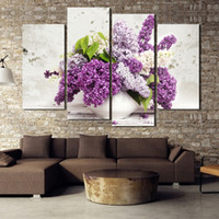 beautiful life images - Promotion Hot sales HD Large lilac flower canvas painting beautiful decorative wall art modern abstract image unframed