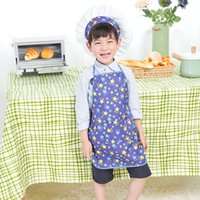 apron gift set - 10 Popular Gift Kid Children Chef Set Apron Hat Oversleeve Lite Fabric Fits Children s Kitchen Cooking cloth Apron Set