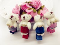 baby bear hair accessory - Fashion Cute Bear with Gemstone Baby Infant Hairpins Solid Glitter Animal BB Girls Hair Clips Hair Accessories
