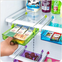 Wholesale Storage Holders Racks Refrigerator fresh layer of multi partition space efficient storage rack kitchen twitch type glove box